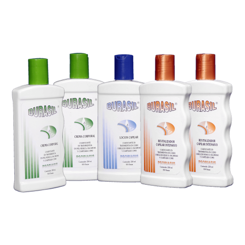 KIT BURASIL  2 creams 250 g. + 1 lotion 250 ml + 2 revitalizing shampoos 250 ml